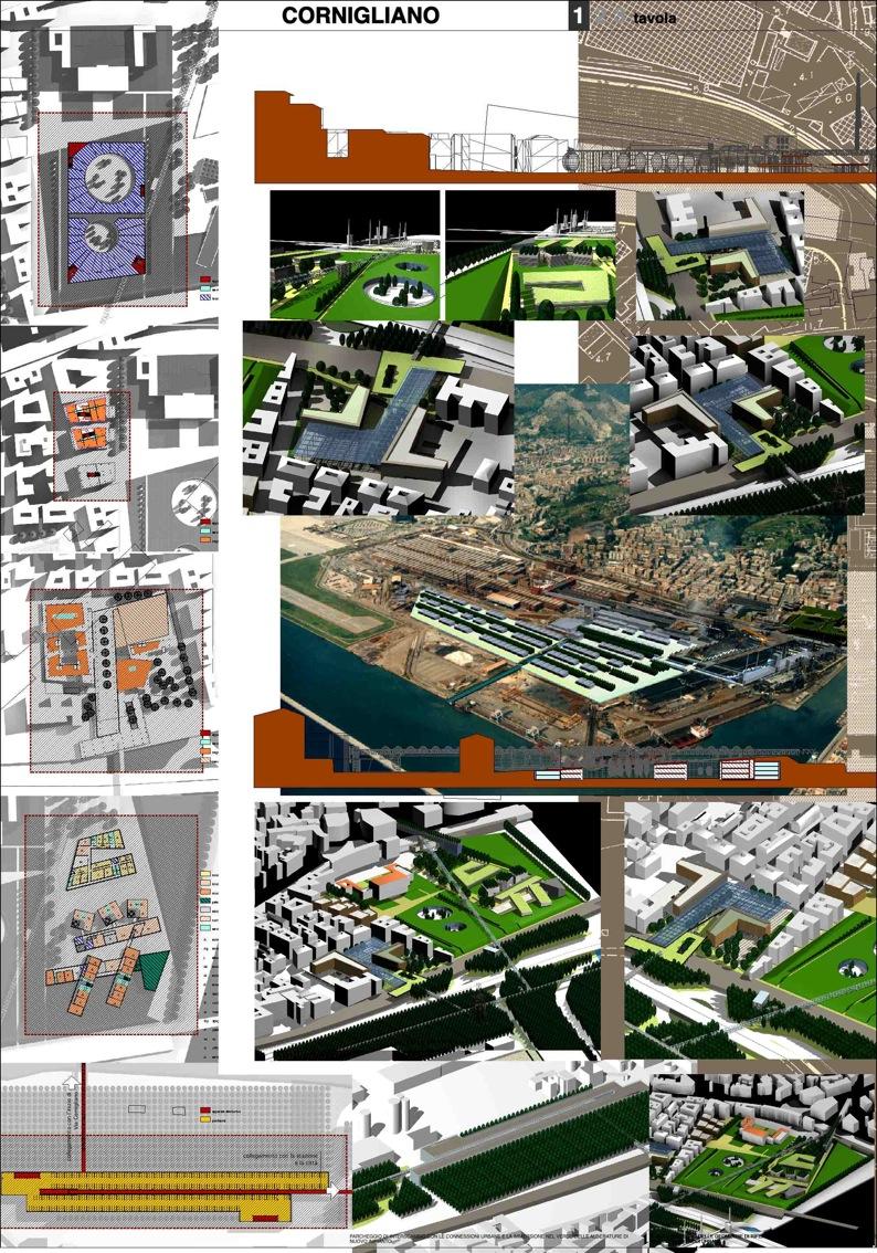 Cornigliano tav1 - Tavole di concorso architettura ...